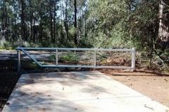 Fire trail gate